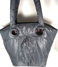Bath & Bodyworks Gray Lightweight Puffy Polyester Tote