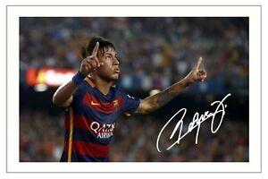 NEYMAR JR FC BARCELONA SIGNED PHOTO PRINT SOCCER