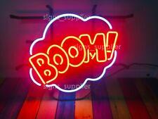 "New Boom! Bubble Neon Sign Light Lamp 17""x14"" Bar Pub Wall Decor Bedroom Gift"