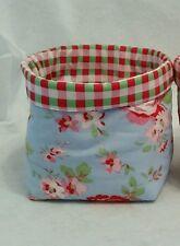Handmade Cath Kidston Rosali Fabric bits&bobs Storage Basket/Bin/Tub mothers day