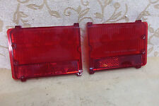 PAIR GENUINE Fomoco FORD ZEPHYR MK4 1966-72 ZODIAC ESTATE REAR TAILLIGHT LENSES