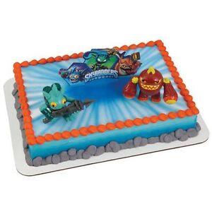 NEW SKYLANDERS 3 PORTAL ERUPTOR AND GILL GRUNT  CAKE KIT  (1)
