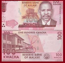 Malawi P-NEW 100 Kwacha, fish / College of Medicine, stethoscope UNC see UV