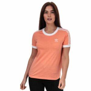 Women's adidas Originals 3-Stripes Crew Neck Regular Fit T-Shirt in Pink