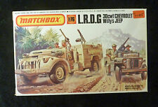 Matchbox WW2 L.R.D.G Chevrolet & Willy's Jeep Model Kit 1/76 Scale