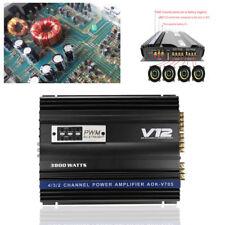 New listing 3800 Watt Car Audio Power Stereo Amplifier Rms 4 Channel Powerful Pwm 4Ohm Set