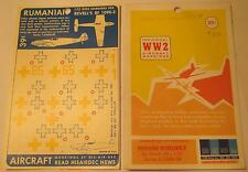 WW2 His Air Dec 1:72 Scale Rumanian: BF (ME) 109E-3 by Revell Decals