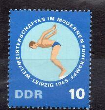 GERMANY DDR STAMP 1965 PENTATHLON CHAMPIONSHIPS LEIPZIG SWIMMING SG E853 MNH
