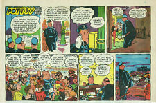 Pottsy by Jay Irving - Nyc Police - color Sunday comic page - May 21, 1961
