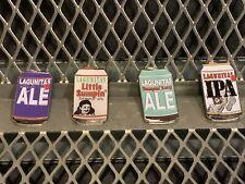 Lot of 4 Lagunitas Brewing Petaluma Calif Chicago Ill Lapel Can Pins + Bonus
