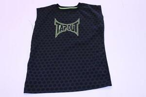 Youth Tapout S (8) Sleeveless Athletic Performance Shirt (Black & Green) Tapout