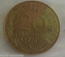 20 centimes marianne 1976 : TTB : pièce de monnaie française