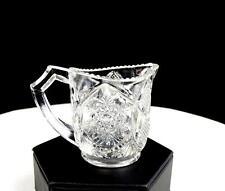 "CAMBRIDGE GLASS 2635 EAPG FERNLAND PATTERN GLASS 2 3/8"" CHILD'S CREAMER 1906"