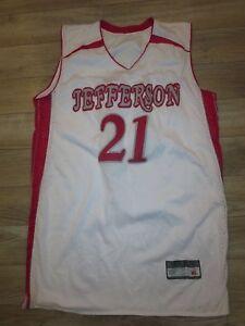 Jefferson High School #21 Basketball Team Jersey XL mens