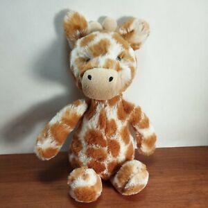 """Jellycat Bashful Giraffe Plush Stuffed Animal 8"""" infant"""