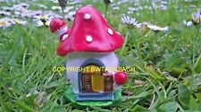 NEW DESIGN RUBBER LATEX MOULD MOLD SMALL FAIRY FAIRIE MUSHROOM COTTAGE  HOUSE #3