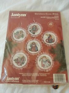 Janlynn Christmas Counted Cross Stitch Kit, Set of 6 Holiday Angels Ornaments