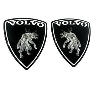 "Zombie VOLVO Set 2 Pieces car Stickers Polyurethane Metallic Film 2.83""x2.32"""