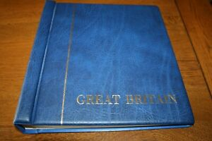 Great Britain Stamp Album 1840-1980 Used/Great condition KA-BE,Volkhardt & Co