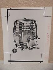 Vintage COCA-COLA PHOTO from COLA CALL Vintage Coca Cola Red Barrel Dispencer