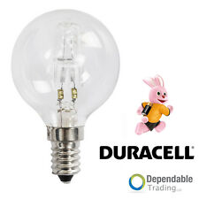 Duracell 42w = 60w SES E14 Transparent HALOGÈNE Économie d'Énergie Balle de golf