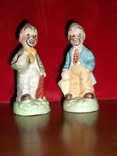 Vintage Sad Hobo Clown Porcelain Hobo Clown Figures Lot Set