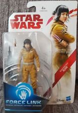 "STAR WARS THE LAST JEDI FORCE LINK RESISTANCE TECH ROSE 3.75"" ACTION FIGURE BNIB"