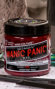Manic Panic Cruelty-Free Vampire Red True Dark Red Classic Hair Dye Colour Vegan