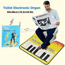 Toilet Piano Keyboard Mat Rug Tapping Musical Soft Bath Potty Floor Anti Slip