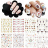 Simple  Nail Stickers DIY Manicure Nail Art Decoration 3D Adhesive Wraps