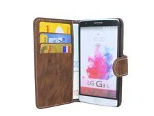 Style Livre Téléphone Portable Housse Étui Sac Accessoire en Marron pour LG G3 S