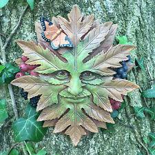 Nature King Homme Vert Jardin Plaque murale extérieur Celtic Pagan Jardin Cadeau 09067