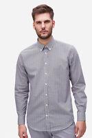 bugatti - Hemd Herren mehrfarbig blau grau Muster Baumwolle Designer NEU: 59 €