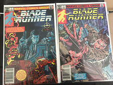 Blade Runner 1 - 2 1982 Complete Set - Movie Adaptation Marvel Comics Newsstand