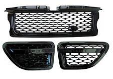 Range Rover sport Grille+side vent Autobiography style upgrade kit full black V8