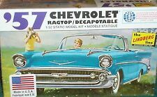 LINDBERG 1957 CHEVY BEL AIR CONVERTIBLE PLASTIC MODEL KIT 1/32 SKILL LEVEL 2
