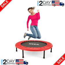 Mini Trampoline for Adults, Fitness Rebounder with Safety Pad, Exercise Red