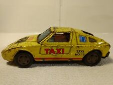 Yone No. 15 Tin Friction Toy Taxi Cab Car Made In Japan Mercedes Benz t2357