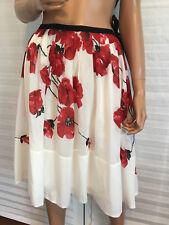 LKNW ANTHROPOLOGIE Cotton/Silk Floral Print Skirt sz 6