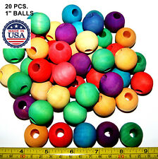 Colored Wood Wooden Balls Pet bird parrot toys parts cockatoo amazon lorie