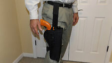 "RIGHT Hand Drop Leg Holster TAURUS TRACKER .17 HMR 6-1/2"" Barrel w/ scope ...USA"