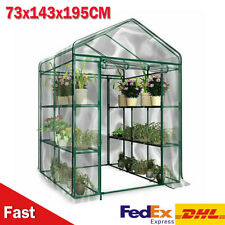 Greenhouse with shelf PVC cover growhouse outdoor tent house plants 73x143x195