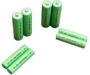 AA & AAA or 2/3AA + 2/3AAA Rechargeable Solar Light Batteries 1.2v Ni-MH