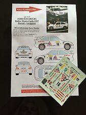 DECALS 1/24 FORD ESCORT BARONI RALLYE MONTE CARLO 1997 RALLY WRC HASEGAWA