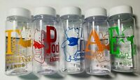 Daiso Disney WINNIE THE POOH DRINK BOTTLES 13.5 fl oz Set of 5 - New (US Seller)