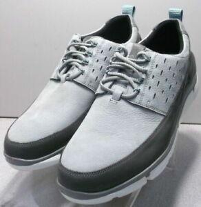253897 SP50 Men's Shoes Size 9 W Gray Leather Lace Up Johnston & Murphy