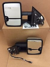 2015 2016 Chevrolet Silverado GMC Sierra Trailer Tow Mirror Kit power chrome OEM