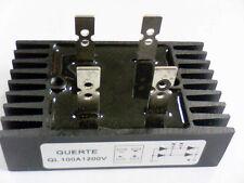 Brückengleichrichter Einphasig Guerte QL 100A 1200V mit Kühlkörper Diodenbrücke