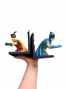 Vintage Batman and Robin Bookends from the Warner Brothers Store Circa 1999