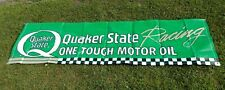 Quaker State One Touch Motor Oil Racing Banner Sign